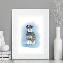 Custom Digitally Illustrated Dog Portrait - Ideal Gift for any Dog Owner - Unique Keepsake