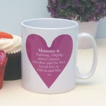 Dictionary Definition Heart Personalised Mug - Ideal Personalised Gift for Him or Her, Mother's Day, Father's Day, Grandparent Gift or Birthday Gift