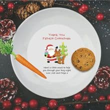 Father Christmas Plate - Ideal for leaving Santa a little thank you snack