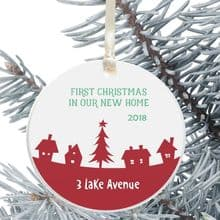 First Christmas in a New Home Keepsake Decoration - Festive House Design