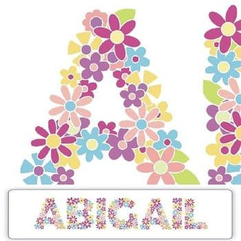 Floral Name Plaque - Personalised Girls Door Plaque