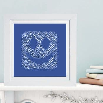 Framed Emoji Word Cloud - Ideal Father's Day or Mother's Day Gift