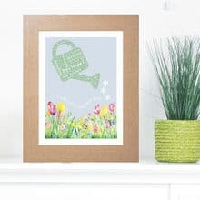 Framed Teacher Garden Word Cloud - Ideal gift or leaving present for a Teacher