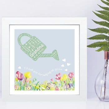 Garden Word Art in Box Frame - Ideal Gift for a Friend or Member of your Family