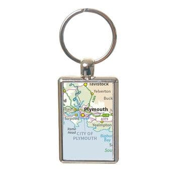 Map Keyring - Personalised Housewarming Gift or Wedding Anniversary Present