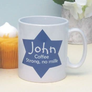 My Drink, My Way Personalised Star Mug - Unque Gift For Work Colleague