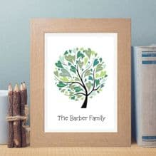 Personalised Family Tree Artwork - Unique Birthday Gift