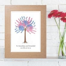 Personalised Handprint Tree - Unique Grandparents Gift From The Grandchildren