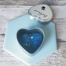 Pet Cremation Ashes Memorial Miniature Keepsake Remembrance Heart in Personalised Box