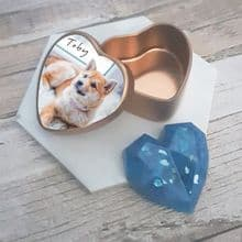 Pet Cremation Ashes Memorial Miniature Keepsake Remembrance Heart in Photo Box