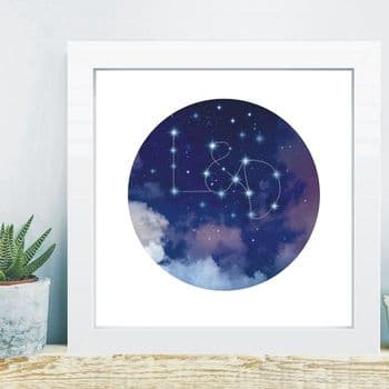 Written In The Stars in Box Frame - Christmas Couple Gift - 1st Wedding Anniversary Paper
