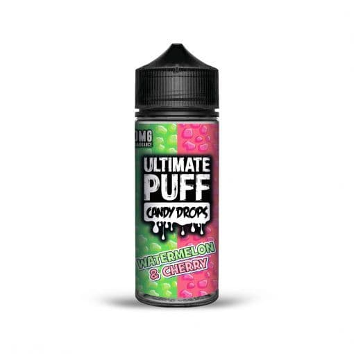 WATERMELON & CHERRY CANDY DROPS E-LIQUID BY ULTIMATE PUFF 100ML