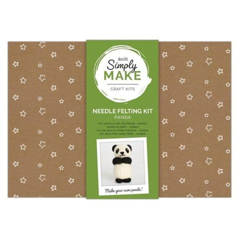Simply Make Panda Needle Felting Kit