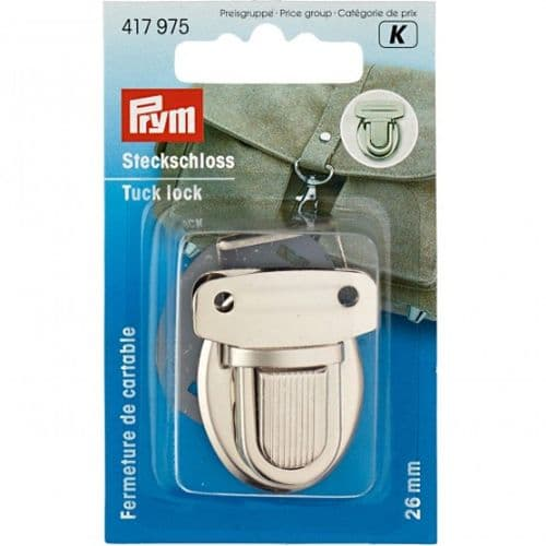 Tuck Lock 26mm Silver