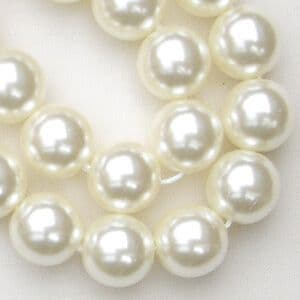 10mm Preciosa Czech Glass Pearls, White - 50