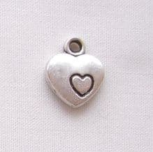 12mm Heart with Heart Charm - 1