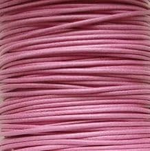 1mm Waxed Cotton Cord Pink - 5 Metres