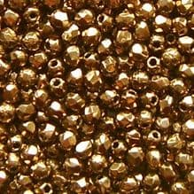 2.5mm Fire Polished, Gold Bronze - 100