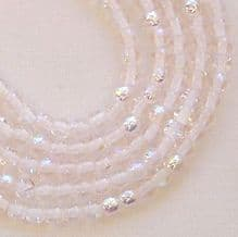 3mm Round Czech Glass Beads Rosaline AB - 100