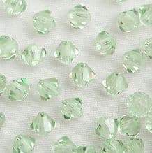 4mm Preciosa Crystal Bicone Chrysolite - 144