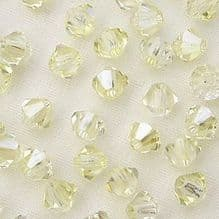 4mm Preciosa Crystal Bicone Crystal Blond Flare - 20