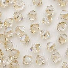 4mm Preciosa Crystal Bicone Crystal Honey - 20