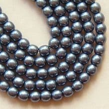 4mm Round Czech Glass Beads Saturated Metallic Niagara  - 100