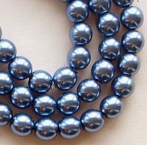 6mm Preciosa Czech Glass Pearls, Azure Blue - 75