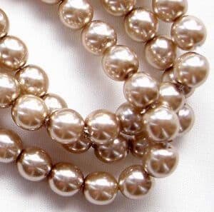 6mm Preciosa Czech Glass Pearls, Cocoa - 75