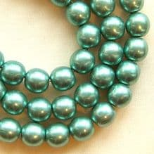 6mm Round Czech Glass Beads Saturated Metallic Island Paradise - 50