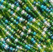 8/0 Czech Seed Bead Hank Evergreen