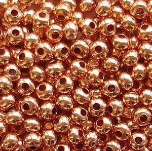 8/0 Metal Seed Beads Copper - 20 grams