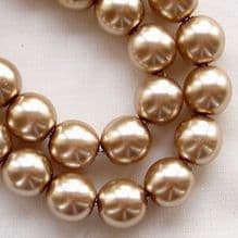 8mm Preciosa Czech Glass Pearls