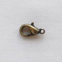 Antique Gold Plated 10mm Trigger Clasp - 10