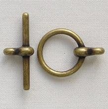 Antique Gold Plated  	12mm Toggle Clasp - 1