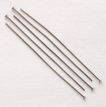 "Black Plated 2"" (50mm) Headpin - 50"