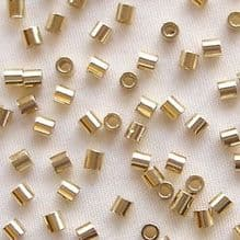 Gold Plated 2 x 2mm Crimp Tube - 100