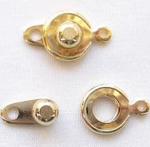Gold Plated 8mm Ball and Socket Clasp - 1