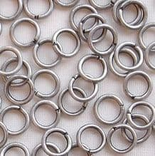 Matt Silver Plated 5mm Jump Ring - 50