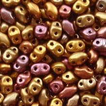 Miniduo Beads Gold Rainbow - 5 grams