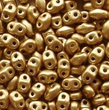 Miniduo Beads Pale Bronze Gold - 5 grams