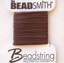No Stretch Thread Brown - 1