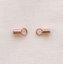 Rose Gold Plated 3.5 x 2mm Crimp Tube - 10 Pairs