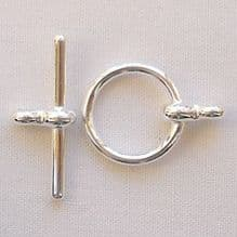 Silver Plated 12mm Toggle Clasp - 1
