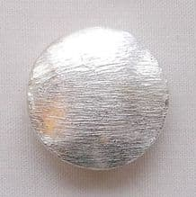 Silver Plated 18mm Lentil Beads - 1