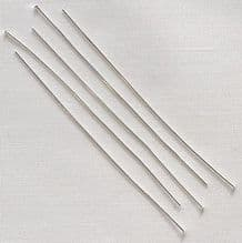 "Silver Plated 2"" (50mm) Fine Headpin - 50"