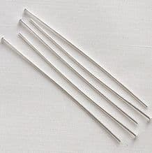 "Silver Plated 2"" (50mm) Headpin - 50"