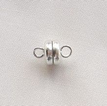 Silver Plated 7mm Magnetic Clasp - 1