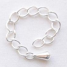 Silver Plated 8cm Extension Chain with Drop - 1