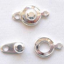 Silver Plated 8mm Ball and Socket Clasp - 1